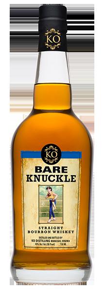 Bare Knuckle Straight Bourbon. Image courtesy KO Distilling.