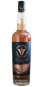 Virginia Distillery Company Port Cask Finished Virginia-Highland Whisky. Image courtesy Virginia Distillery Company.