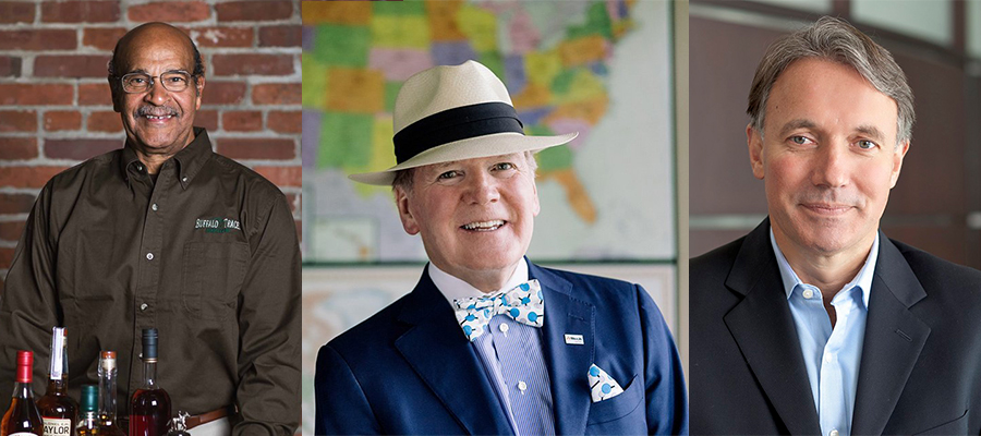 The Kentucky Bourbon Hall of Fame Class of 2018 (L-R): Freddie Johnson, Dr. Pearse Lyons, and Matt Shattock. Photos courtesy Buffalo Trace, Alltech, and Beam Suntory.