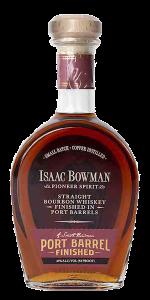 Isaac Bowman Port Barrel Finished Bourbon. Image courtesy A. Smith Bowman Distillery/Sazerac.