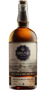 Shelter Point Double Barreled Single Malt Whisky. Image courtesy Shelter Point Distillery.