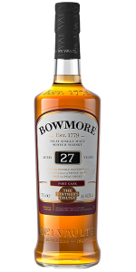 Bowmore Vintner's Trilogy 27 Years Old. Image courtesy Bowmore/Beam Suntory.