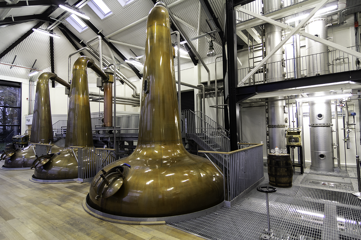 The still room at the Royal Oak Distillery in County Carlow, Ireland. Photo ©2018, Mark Gillespie/CaskStrength Media.