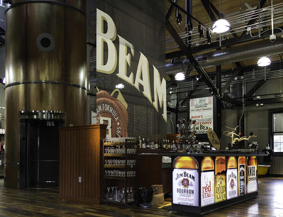 "The Jim Beam American Stillhouse in Clermont, Kentucky would be allowed to sell ""distillery-exclusive"" whiskies under House Bill 200, currently under consideration in the Kentucky General Assembly. File photo: Mark Gillespie/CaskStrength Media."