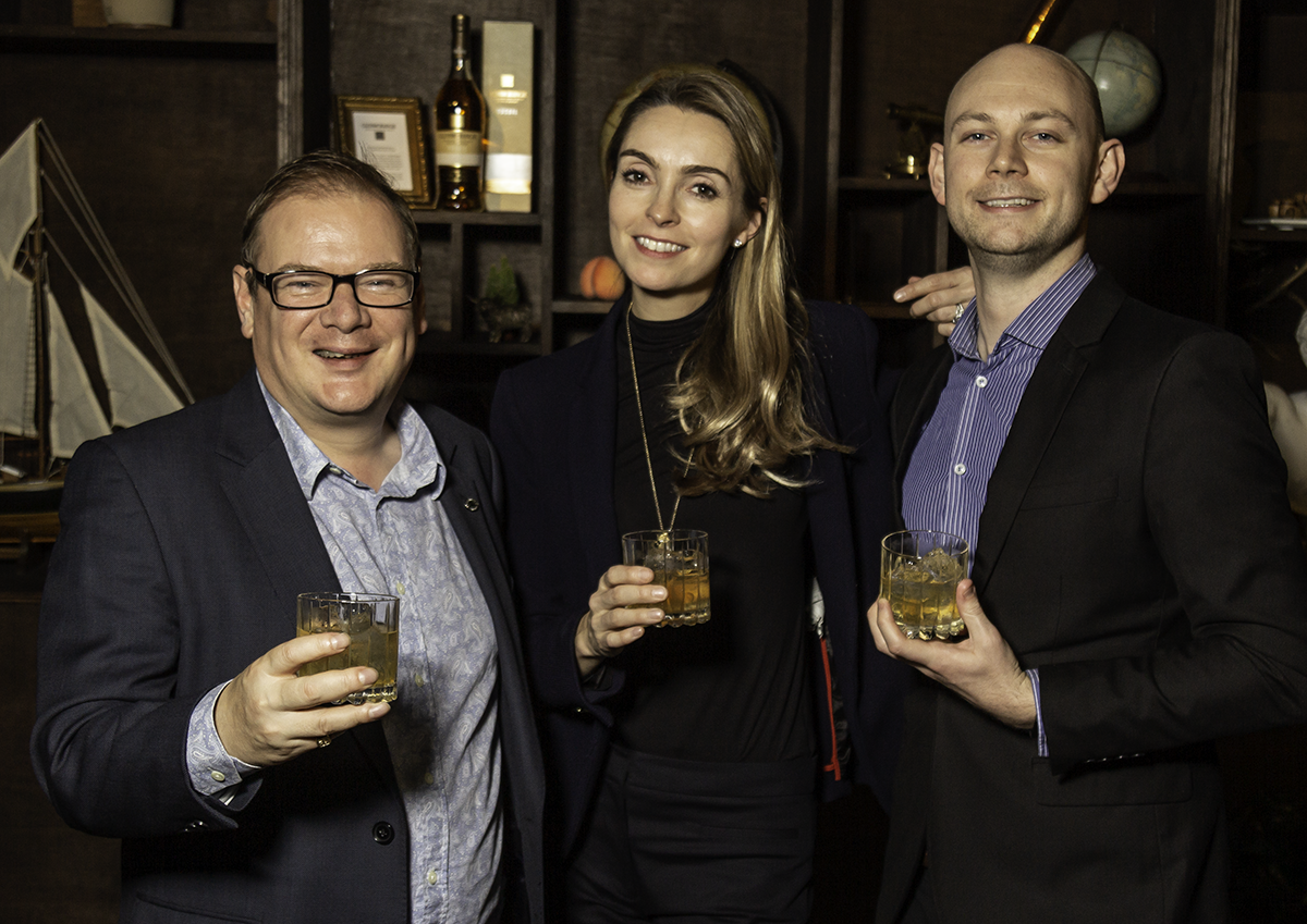 """Three Drinkers"" stars Colin Hamden-White, Helena Nicklin, and Aidy Smith. Photo ©2019, Mark Gillespie/CaskStrength Media."