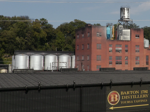 The Barton 1792 Distillery in Bardstown, Kentucky. The spill was located in the area around the tanks on the left side of this file photo. ©2018, Mark Gillespie/CaskStrength Media.
