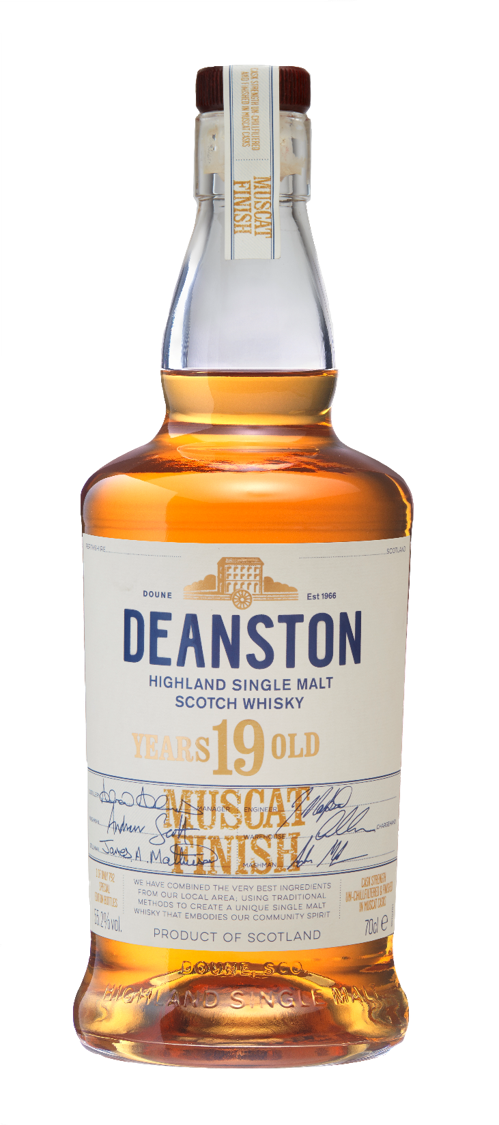 Deanston 1999 Muscat Cask Finish. Image courtesy Deanston/Distell.