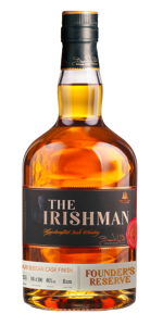 The Irishman Founder's Reserve Caribbean Cask Finish. Image courtesy Walsh Whiskey Company.