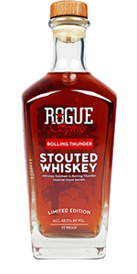 Rogue Rollling Thunder Stouted Whiskey 2019 Release. Image courtesy Rogue Ales & Spirits.