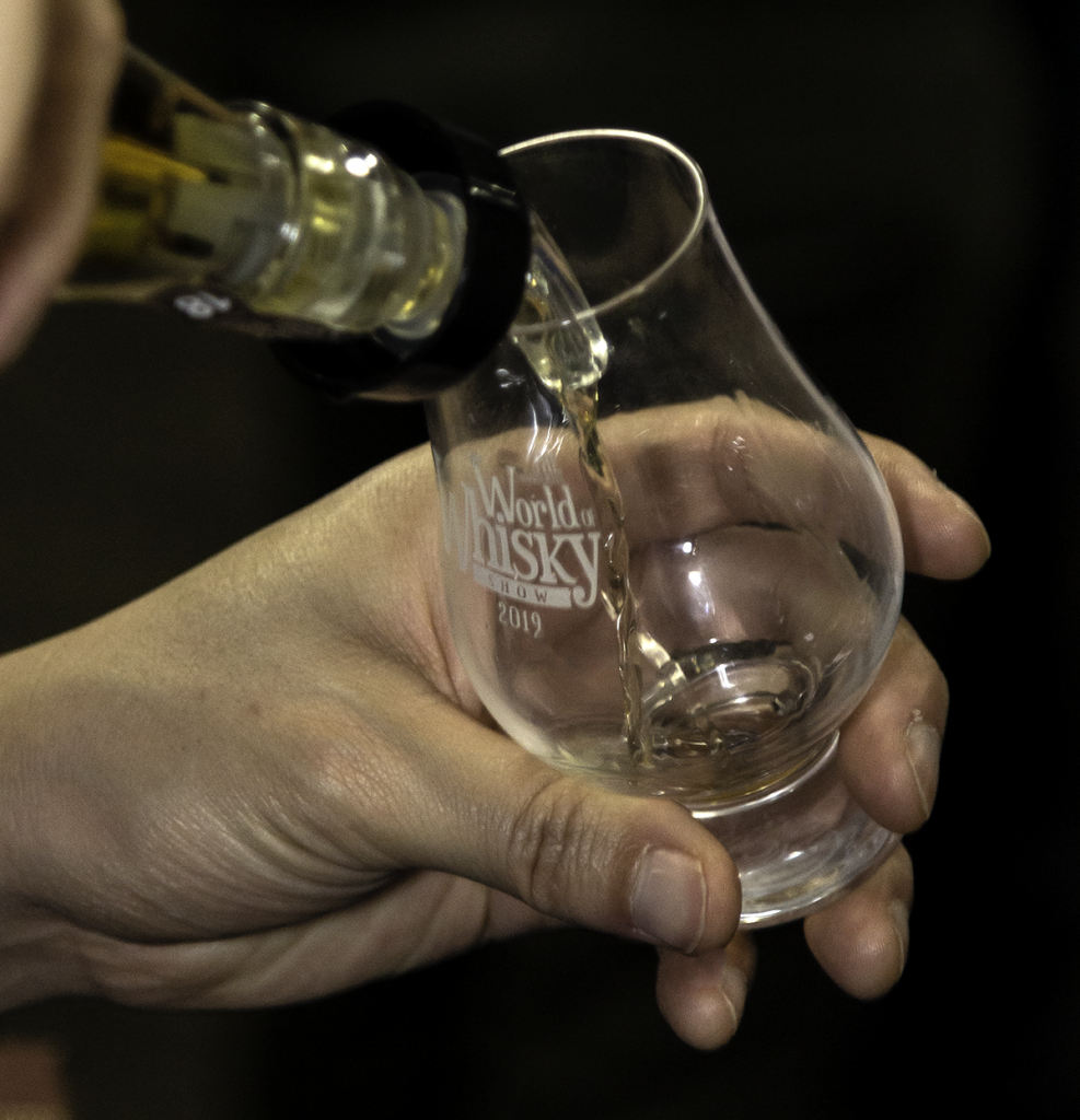 A whisky being poured at the Wonderful World of Whisky Show in Cornwall, Ontario March 23, 2019. Photo ©2019, Mark Gillespie/CaskStrength Media.