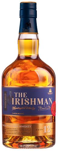The Irishman 12 Year Old Single Malt. Image courtesy Walsh Whiskey Company.