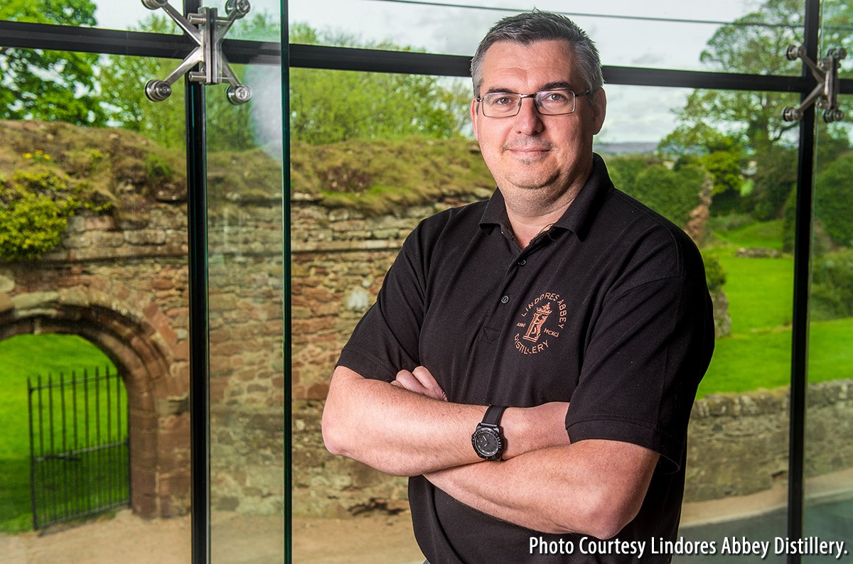 Lindores Abbey Distillery manager Gary Haggart. Photo courtesy Lindores Abbey Distillery.