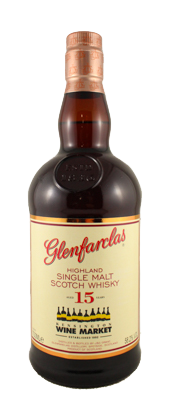 Glenfarclas 15 Cask Strength Kensington Wine Market Edition. Image courtesy Kensington Wine Market.