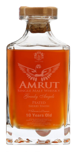 Amrut Greedy Angels Peated Sherry 10YO Whisky. Image courtesy Amrut Distilleries.