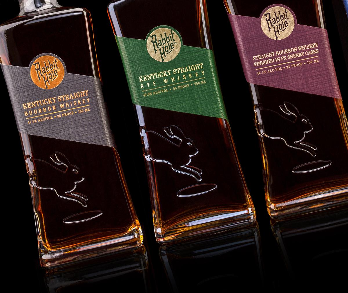 Rabbit Hole Whiskey bottles. Image courtesy Rabbit Hole Distillery.