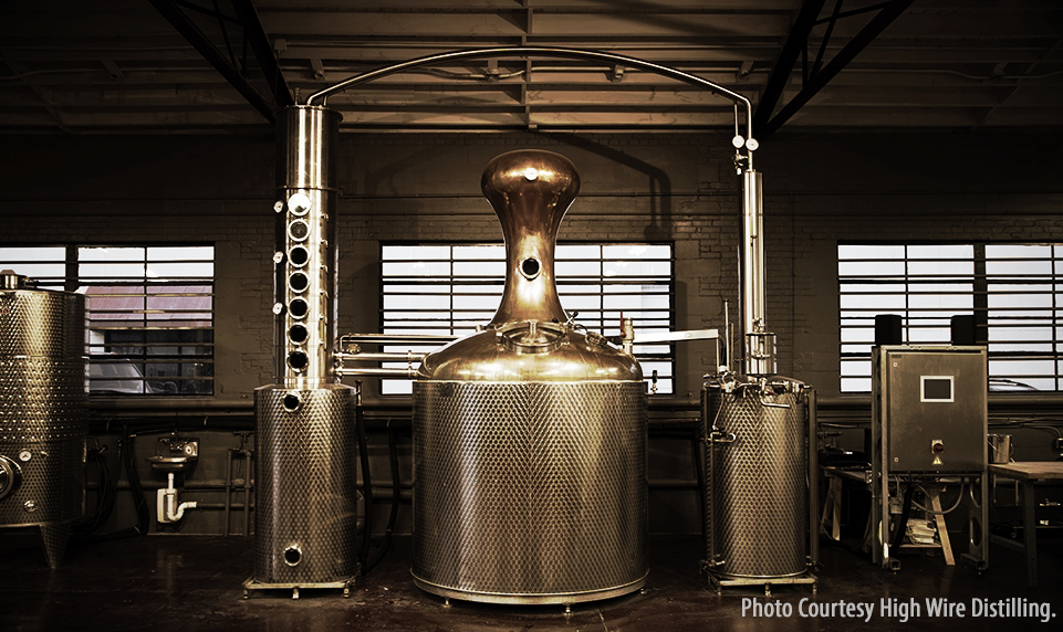 The still at High Wire Distilling in Charleston, South Carolina. Photo courtesy High Wire Distilling.