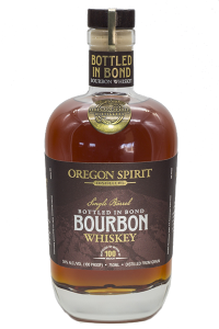 Oregon Spirit Distillers Bottled in Bond Bourbon. Image courtesy Oregon Spirit Distillers.