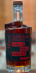 Adams Cask Strength Tasmanian Single Malt Whisky. Image courtesy Adams Distillery.