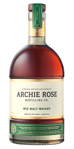 Archie Rose Rye Malt Whisky. Image courtesy Archie Rose Distilling Co.