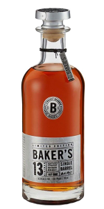 Baker's 13 Single Barrel. Image courtesy Beam Suntory.