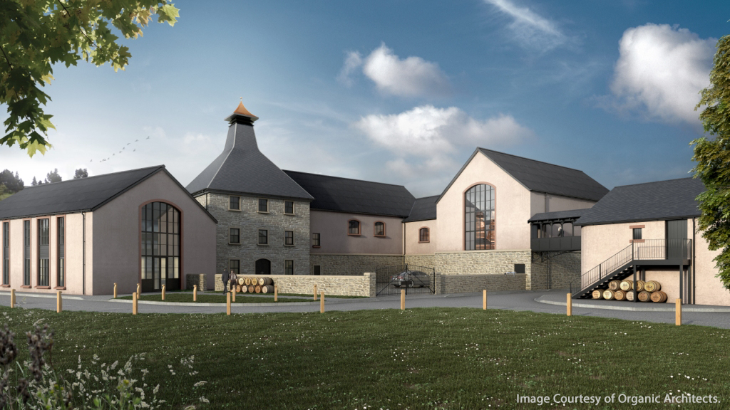 The Organic Architects rendering of Dartmoor Distillery in England. Image courtesy Organic Architects.
