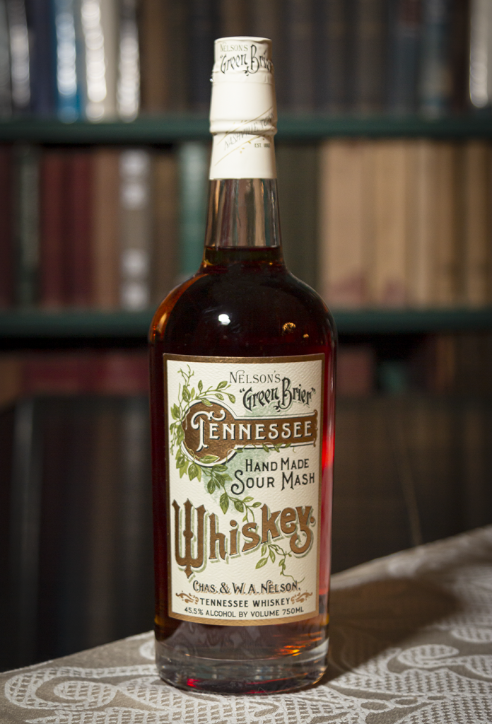 This may look like a vintage bottle, but Charles and Andy Nelson replicated their family's historic label design for their Green Brier Tennessee Whiskey. We'll have tasting notes for it on this week's WhiskyCast!
