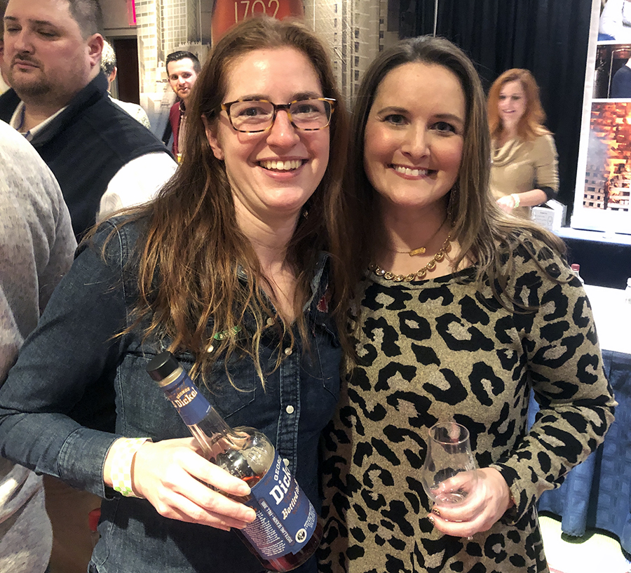 """Whisky Advocate named George Dickel Bottled in Bond as its """"Whiskey of the Year"""" this week. Dickel master distiller Nicole Austin picked the whiskey, and her predecessor, Allisa Henley, was on hand to congratulate her at WhiskyFest New York on Tuesday night."""