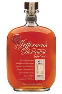 Jefferson's Presidential Select 21 Year Old Bourbon. Image courtesy Castle Brands.