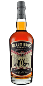 Blaum Bros. Old Straight Rye Whiskey. Image courtesy Blaum Bros. Distilling Co.
