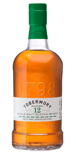 Tobermory 12 Single Malt Scotch. Image courtesy Tobermory/Distell.