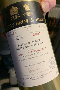Berry Bros. & Rudd Caol lla 2007 Cask #319464. Photo courtesy Angelo Veneziano.