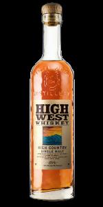 High West High Country American Single Malt. Image courtesy High West Distillery.