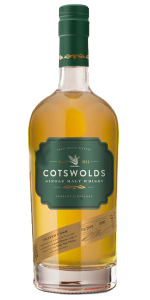 Cotswolds Peated Cask Single Malt Whisky. Image courtesy Cotswolds Distillery.