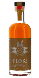 Flóki Beer Barrel Finish Icelandic Single Malt Whisky. Image courtesy Eimverk Distillery.