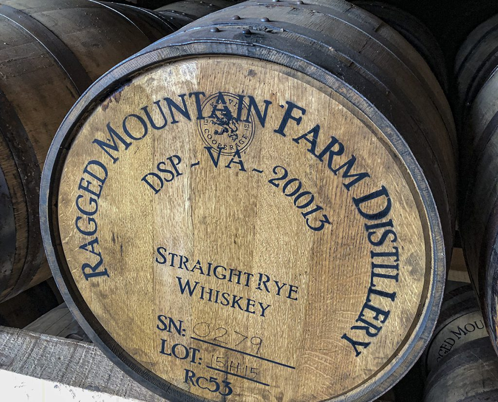A Rye whiskey barrel at Virginia's Ragged Branch Distillery. File photo ©2020, Mark Gillespie/CaskStrength Media.