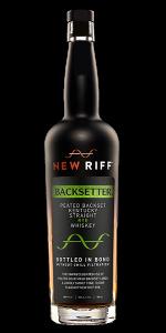 New Riff Backsetter Peated Backset Rye. Image courtesy New Riff Distilling.