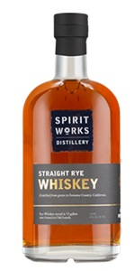 Spirit Works Straight Rye Whiskey. Image courtesy Spirit Works Distillery.