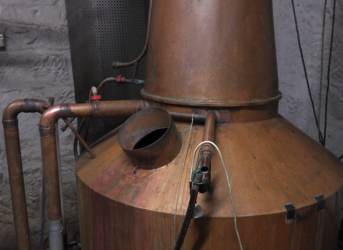 Belgrove Distillery's whisky still