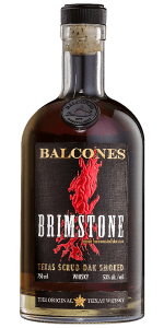 Balcones Brimstone Whiskey. Image courtesy Balcones Distilling.