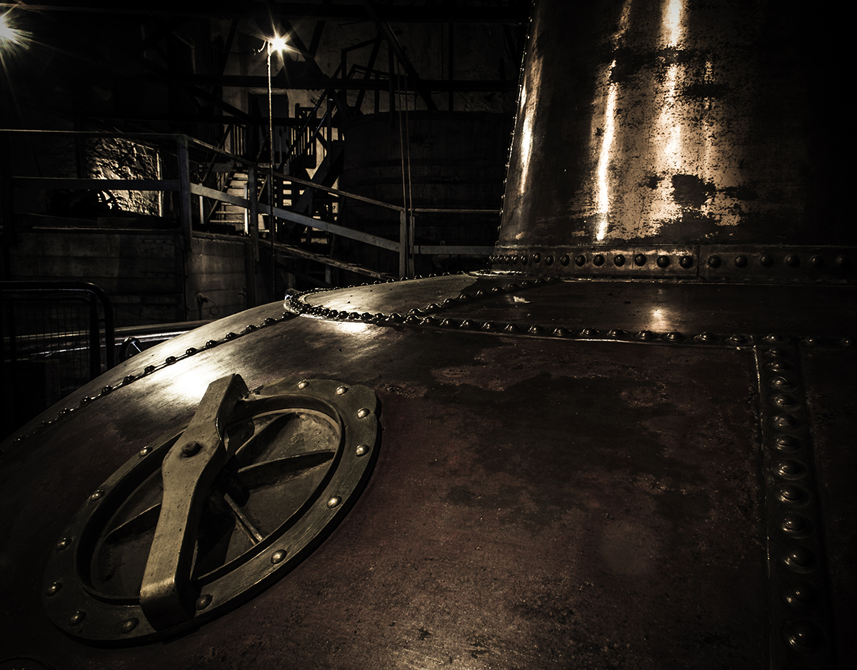 One of the vintage pot stills at Ireland's Old Midleton Distillery. Photo ©2021, Mark Gillespie/CaskStrength Media.