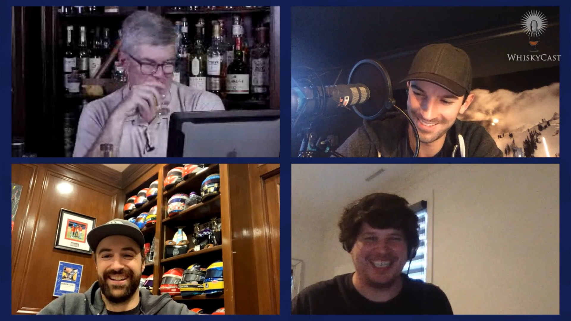 "The ""Off Track"" podcast team of IndyCar drivers Alexander Rossi and James Hinchcliffe joined us along with producer Tim Durham on the last #HappyHour webcast to taste some whiskies and talk about motorsports."