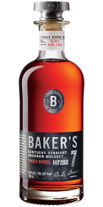 Baker's Single Barrel Bourbon. Image courtesy Beam Suntory.