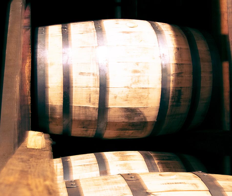 Whisky barrels in a rack. Image ©2021, Mark Gillespie/CaskStrength Media.