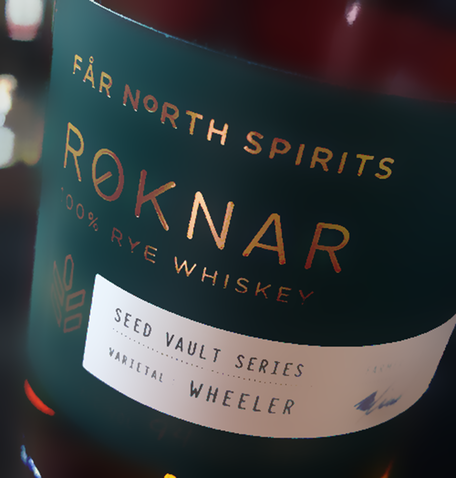 A bottle in the Far North Spirits Seed Vault Series of experimental Rye whiskies. Photo ©2021, Mark Gillespie/CaskStrength Media.