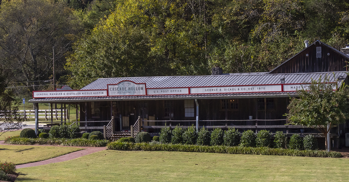 The Cascade Hollow Distillery visitors center in Tullahoma, Tennessee. File photo ©2021, Mark Gillespie/CaskStrength Media.