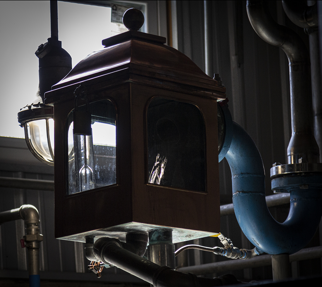 When the light is just right, you can see the spirit in the spirit flowing through a spirit safe like this one at Cascade Hollow Distillery in Tennessee.