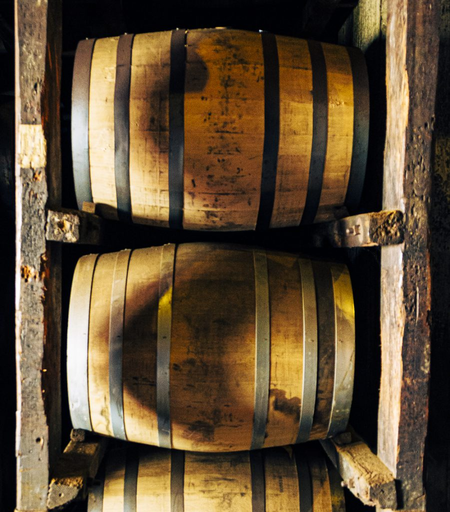 Whisky barrels in a maturation warehouse. File photo ©2021, Mark Gillespie/CaskStrength Media.