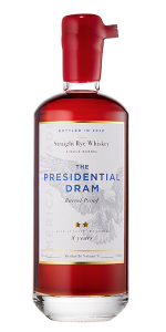 The 2020 Presidential Dram 8 Year Old Rye Whiskey. Image courtesy Proof and Wood Ventures.