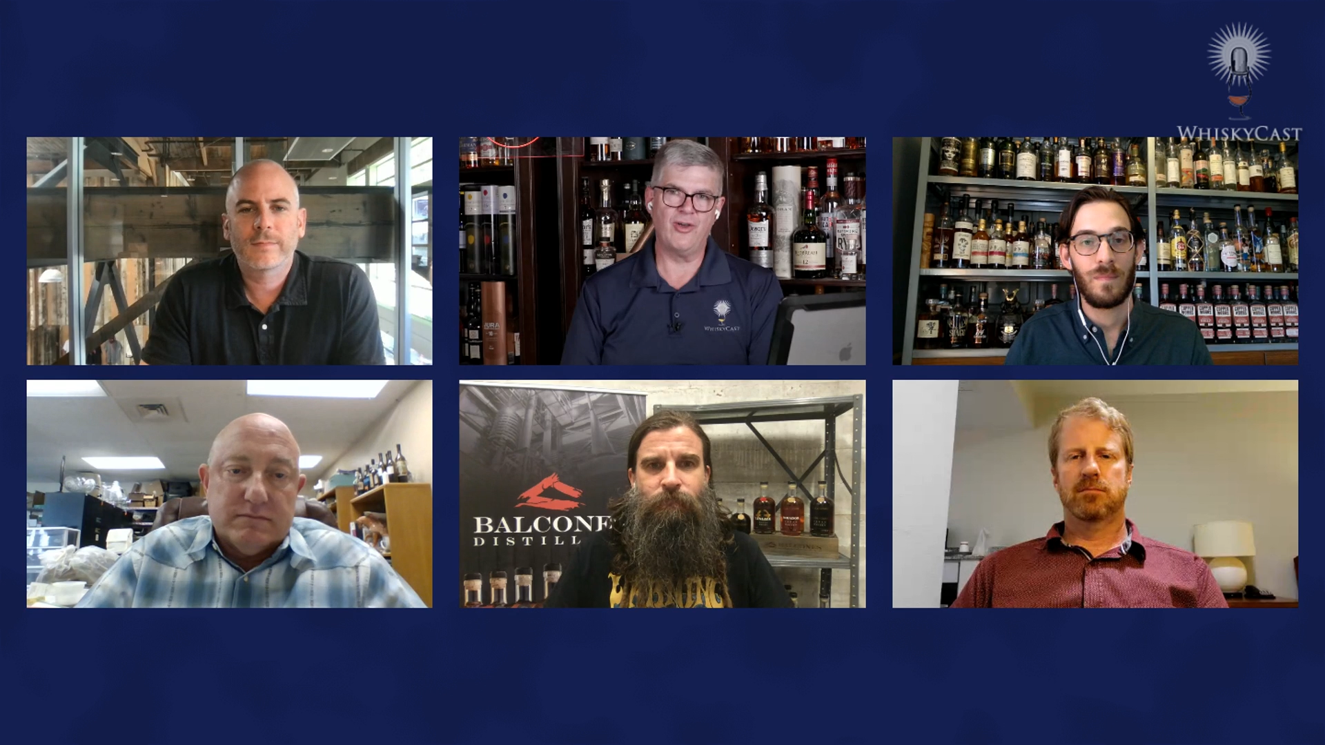 American Single Malt Whiskey Commission members Steve Hawley of Westland, Jeff Kanof of Copperworks, Stephen Gould of Golden Moon Distillery, Jared Himstedt of Balcones, and Ty Phelps of Andalusia Distillery joined us on the latest #HappyHourLive webcast Friday night.