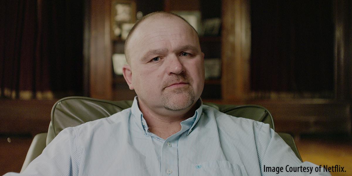 "Gilbert ""Toby"" Curtsinger as seen in Netflix's ""Heist."" Image courtesy Netflix."